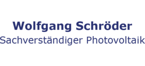 Sachverständiger Photovoltaik Wolfgang Schröder